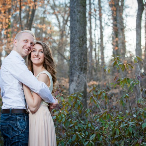 Atlanta engagment session photography with couple posing