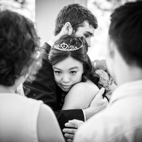 Atlanta wedding photographers bride emotional exit after ceremony