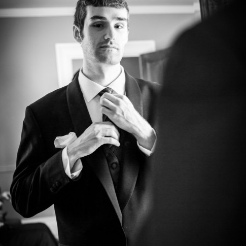 Atlanta wedding photographers groom getting ready