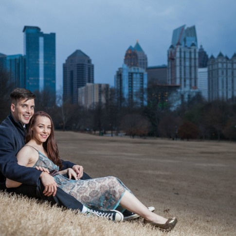 Engagement session at Piedmont Park Atlanta