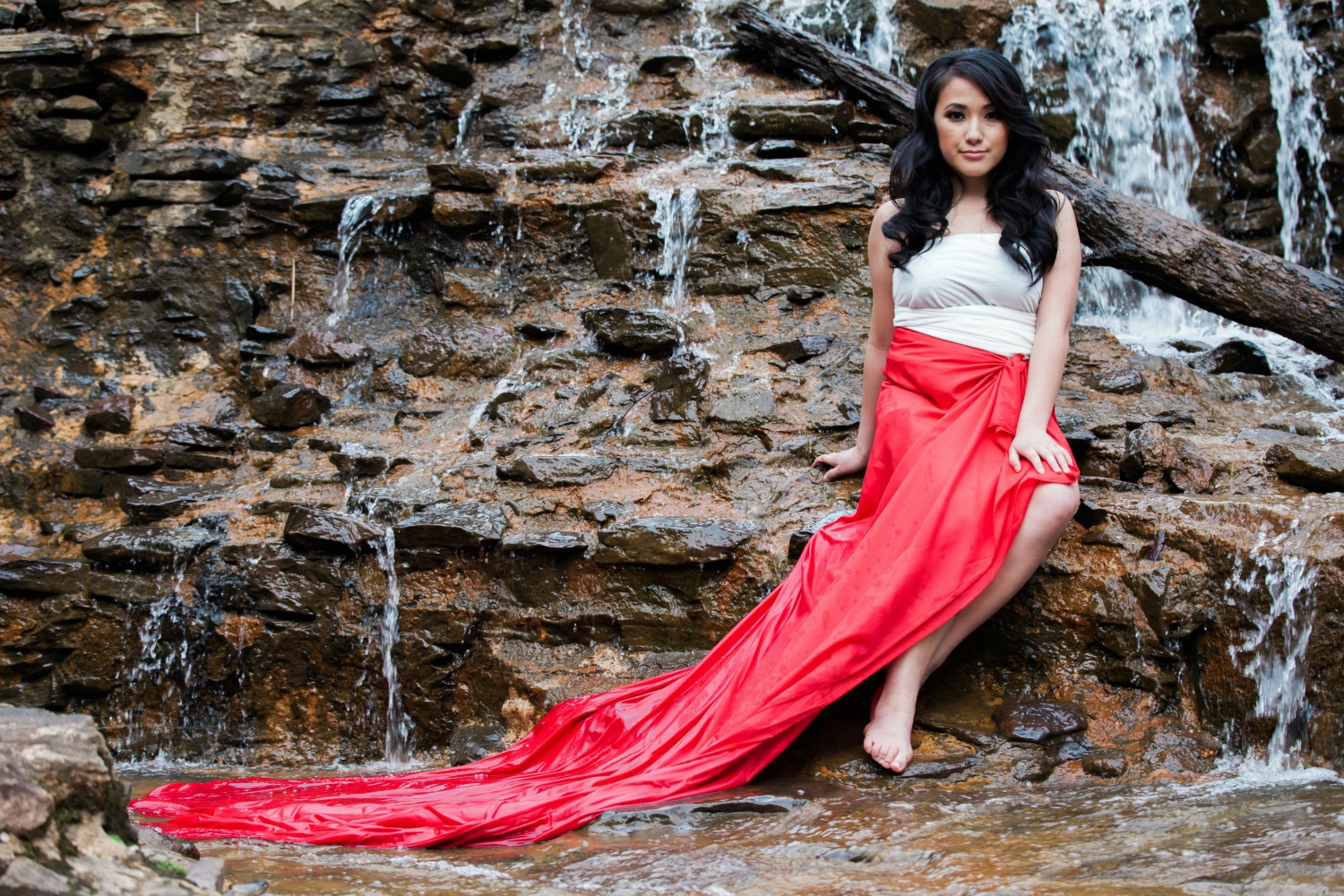 Epic-portrait-photography-near-waterfall-with-beautiful-young-asian-girl Asian Wedding Photographer Bradford