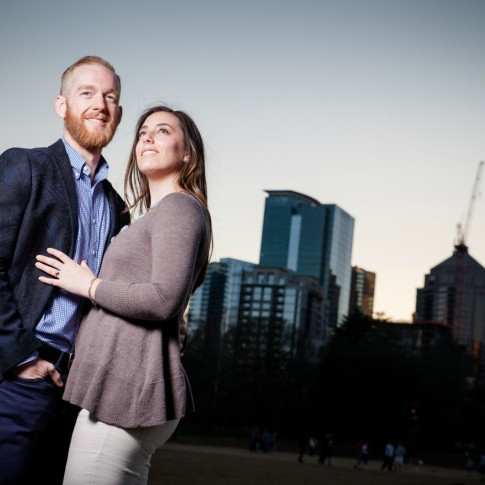Piedmont Park Atlanta engagement session with Gary Lun Photography