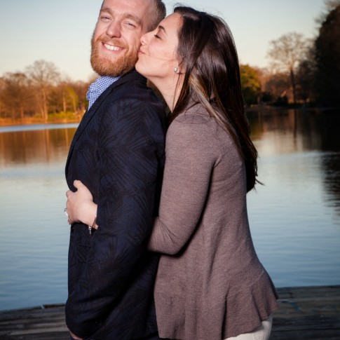 Piedmont Park dock engagement photography