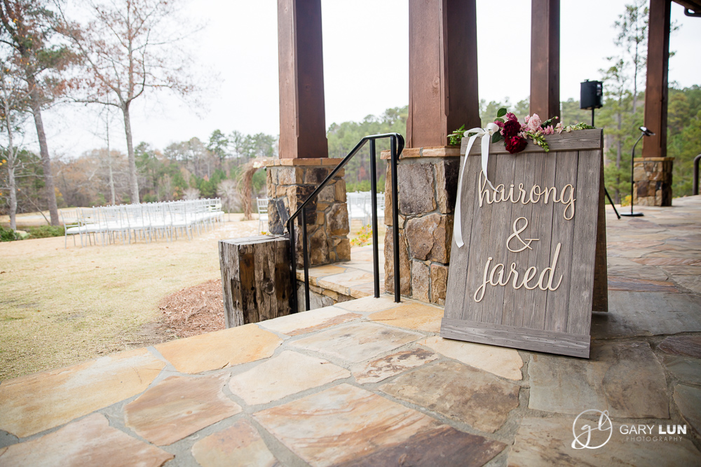 The River Club Suwanee Wedding outdoor ceremony