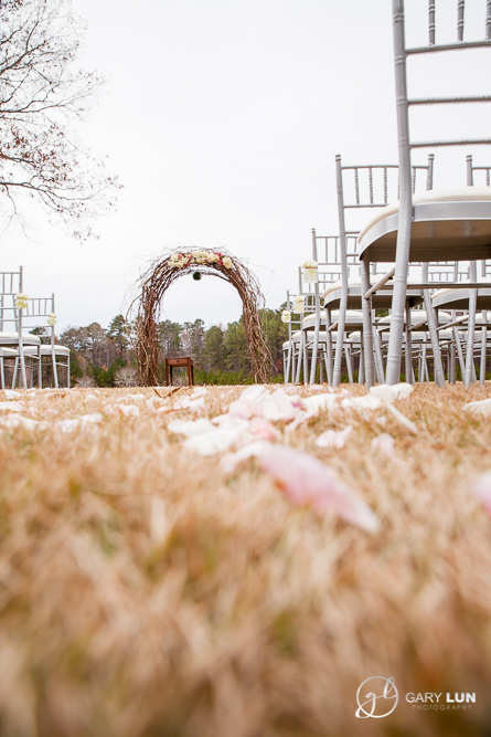The River Club Suwanee Wedding outdoor ceremony space