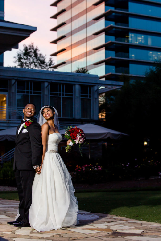 Bride and groom sunset portraits at Villa Christina by Gary Lun Photography