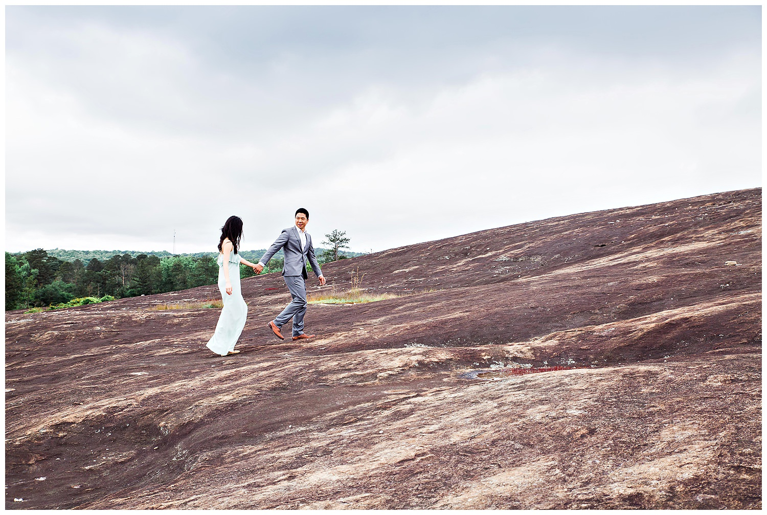 Arabia Mountain engagement with Gary Lun Photography
