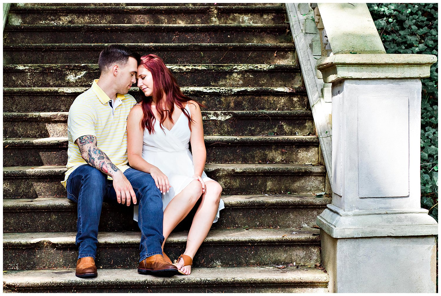 Cator Woolford Garden grand staircase engagement session with Gary Lun Photography
