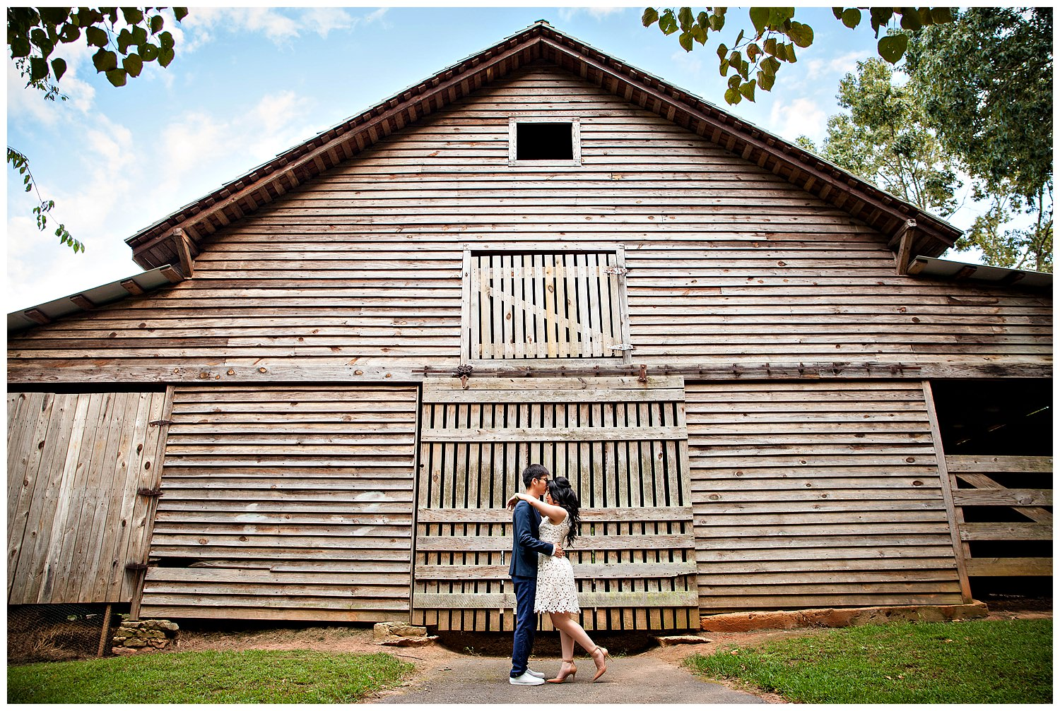 McDanial Farm barn house engagement session with Gary Lun Photography