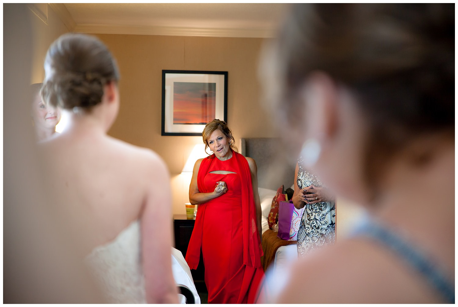 Mom seeing Bride on wedding day