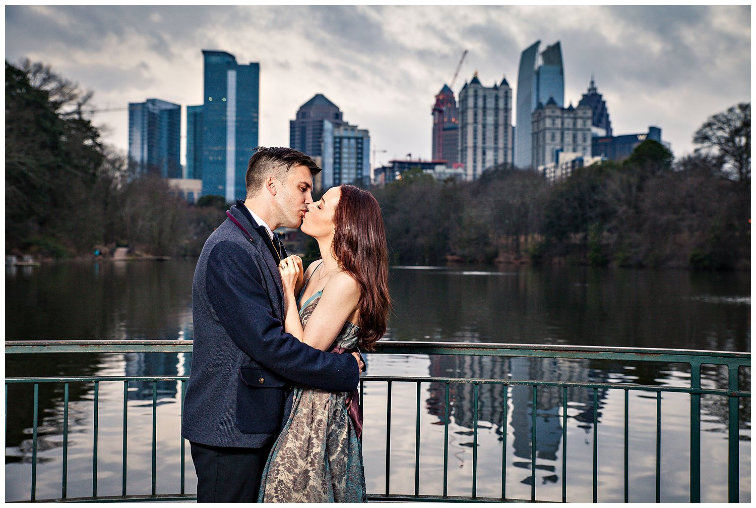 Piedmont Park engagement picture with Gary Lun Photography